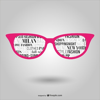 Trendy pink glasses