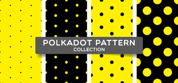 Trendy polka dots seamless pattern collection.