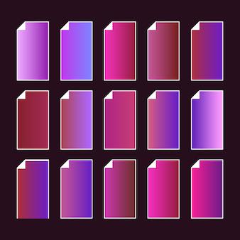 Trendy purple pink color palette.