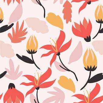 Trendy romantic seamless pattern background