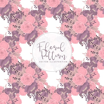 Trendy seamless floral pattern in  illustration