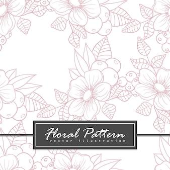 Модный бесшовный цветочный узор в векторной иллюстрации Бесплатные векторы