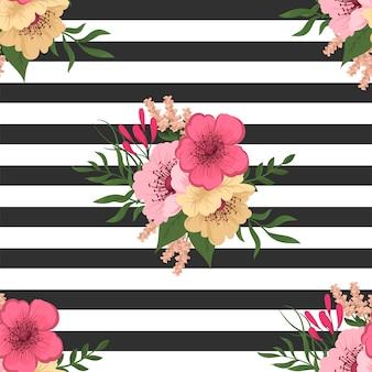 벡터에서 유행 원활한 꽃 패턴