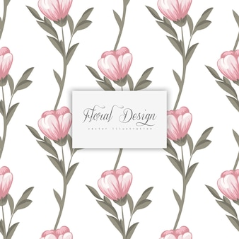 유행 원활한 꽃 패턴