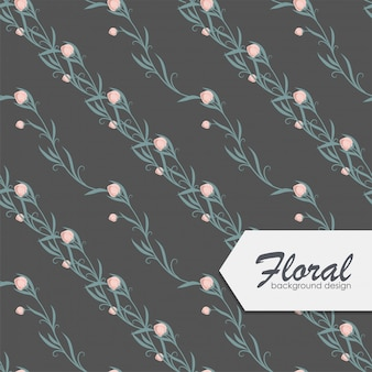 Trendy seamless floral pattern in vector illustration