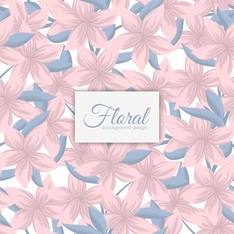 Modello floreale senza cuciture d'avanguardia nell'illustrazione di vettore