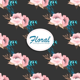 Trendy seamless floral pattern in vector