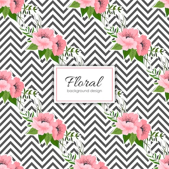 Trendy seamless floral pattern