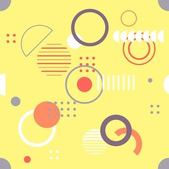 トレンディなシームレスな幾何学模様、幾何学的図形とベクトルイラスト。招待状、パンフレット、プロモーションテンプレートの背景をデザインします。