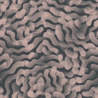 Trendy seamless pattern stippled abstract shapes texture vintage colors background