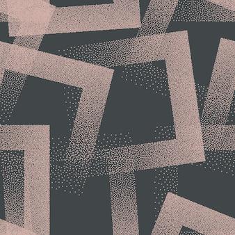 Модный бесшовный узор с пунктирными квадратами. рисованной текстуры ретро цвета абстрактный фон