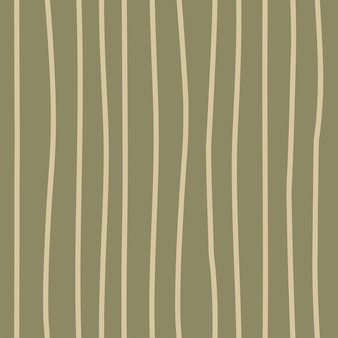 Trendy seamless safari pattern in natural green brown tones abstract vertical lines hand drawn