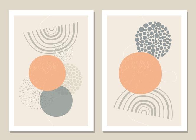 Un insieme alla moda di forme geometriche astratte in uno stile minimal.