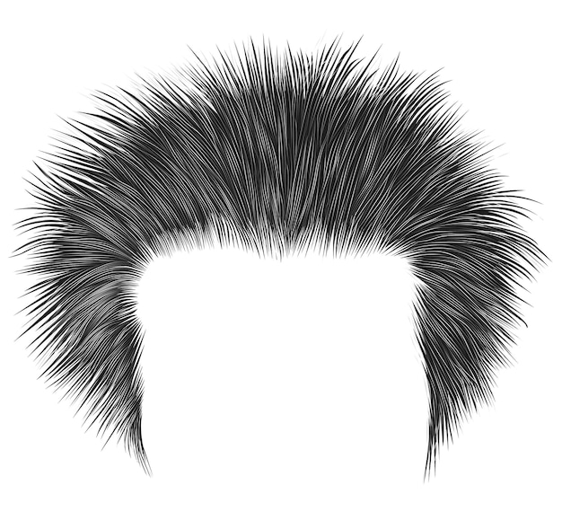 У модного лохматого мужчины волосы черного цвета. высокая укладка волос.