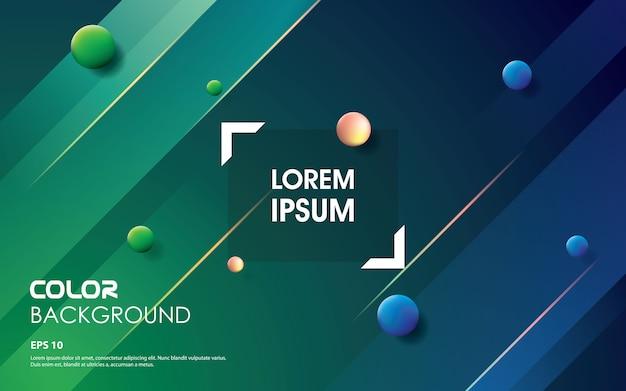 Trendy shape gradient colors. blue and green element design