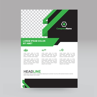 Trendy and simple business brochure or flyer design.