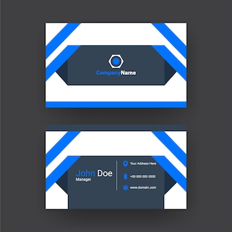 Trendy and simple business card design.