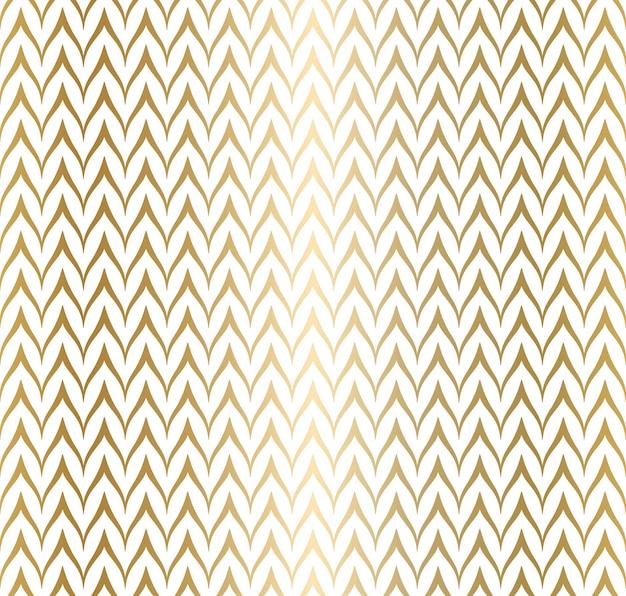 トレンディでシンプルなシームレスジグザグゴールデン幾何学模様