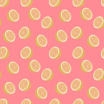 Trendy sliced citrus pattern with pastel colors