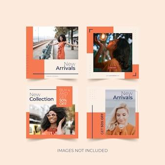 Модный шаблон сообщения в социальных сетях для рекламы модных товаров