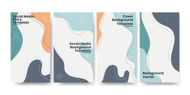 Модные истории в социальных сетях с абстрактным фоном