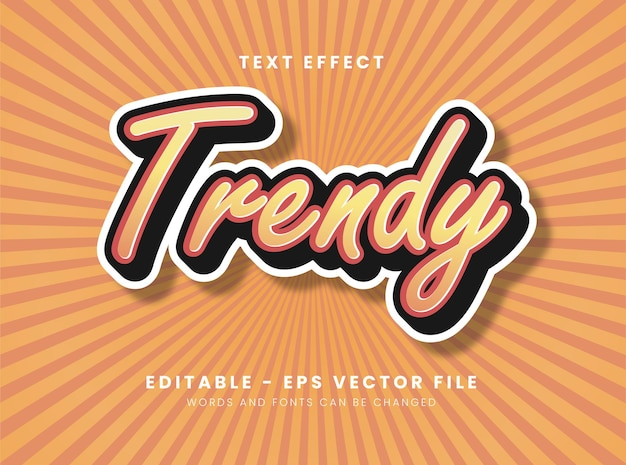 Trendy style font effect