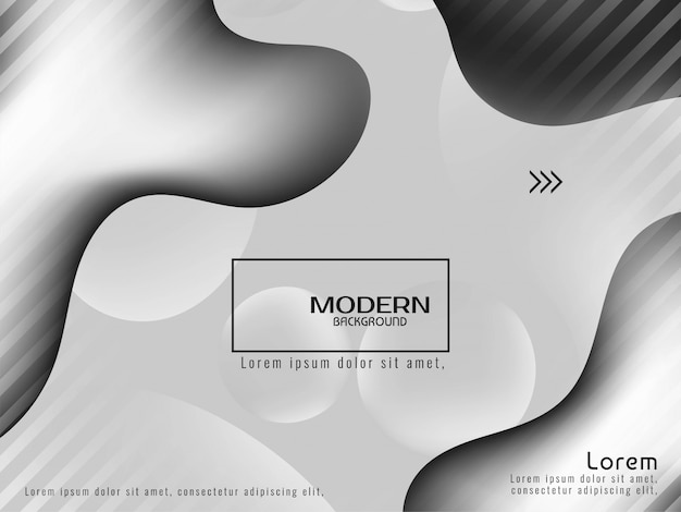 Trendy stylish grey color liquid background design