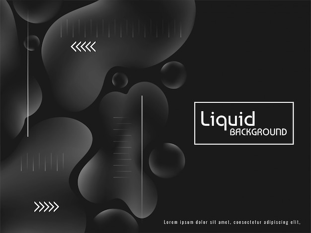 Trendy stylish grey color liquid background