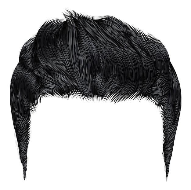 Модные стильные мужские волосы черного цвета. модные стильные мужские волосы черного цвета. цвет.