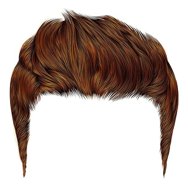Модный стильный мужчина окрашивает волосы. высокая укладка волос. реалистичный 3d.