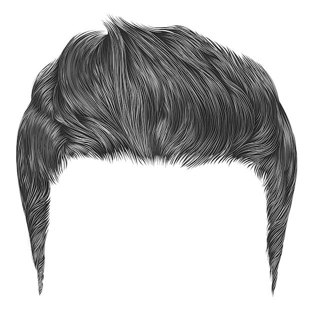 Модные стильные мужские волосы серого цвета. стиль красоты. укладка высоких волос.