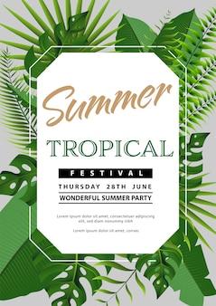 Trendy summer flyer