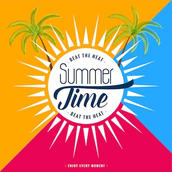 Trendy summer time banner