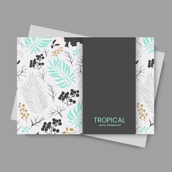 トレンディな熱帯の葉カード