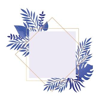 トレンディな熱帯の葉のイラスト