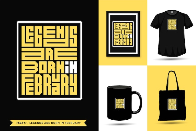 Trendy typography quote motivation tshirt legends are born in august . typographic lettering vertical design template