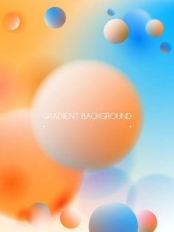Trendy vibrant colors and gradient background