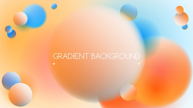 Trendy vibrant gradient background