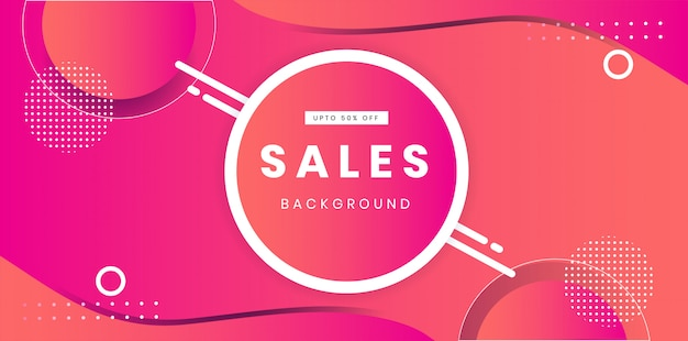 Trendy wave sale background  layout