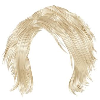 Модная женщина с растрепанными волосами, изолированные на белом фоне