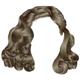 Модные женские волосы, изолированные на белом Premium векторы