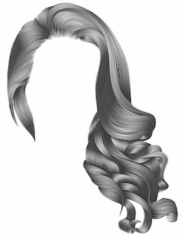 Trendy woman hair isolated on white