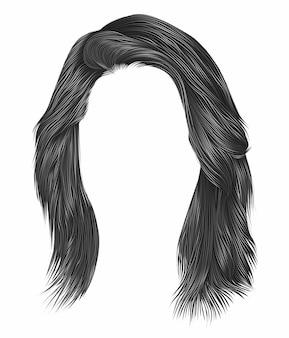 Волосы модной женщины серого цвета.