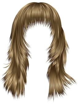 Модная женщина с длинными волосами, изолированными на белом