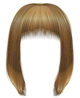 Trendy  woman wig with blond hair