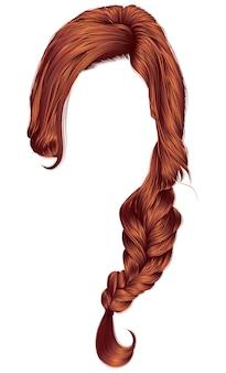 Trendy women hair isolated on white