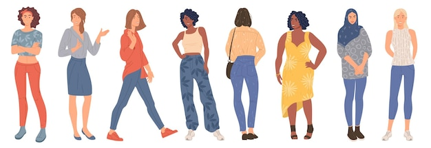 Trendy young women