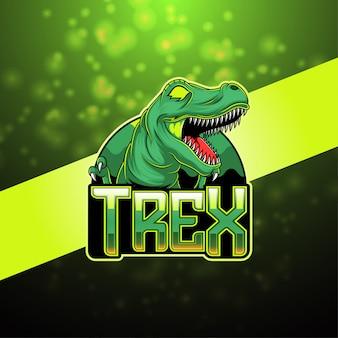 Trexのeスポーツマスコットロゴ
