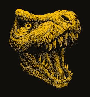 Trex. hand drawn vector illustration.