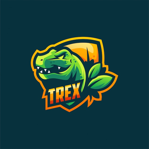 Trex logo design vector illustration template